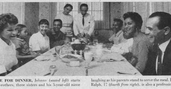 Johnny Mathis W/ His Family Members