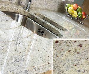 Top Five Beautiful But Inexpensive Granite Countertop Choices White Granite Countertops Kitchen Kashmir White Granite Inexpensive Kitchen Countertops