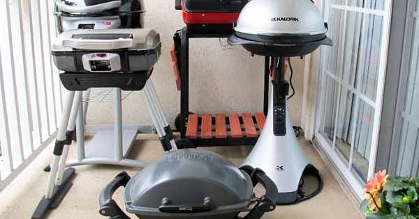 Electric Grills For Apartment Balconies ~ Balcony bbq we test hot outdoor electric grills