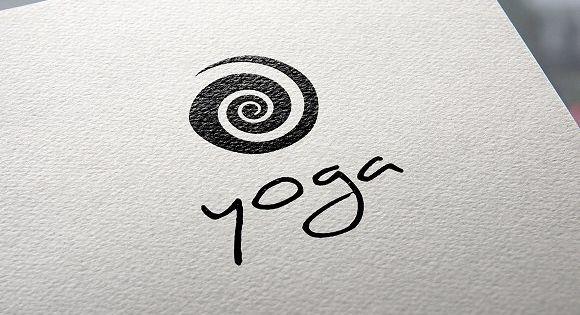 Yoga logo – spiral design