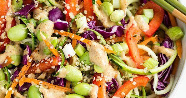 Raw Pad Thai Salad: This recipe for raw rainbow pad thai leaves