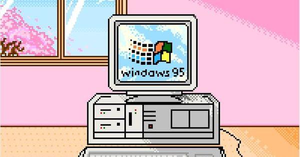 Isometric Logo Glitch By Obispost: 1990s Pink Microsoft Windows 95 Digital Computer Art