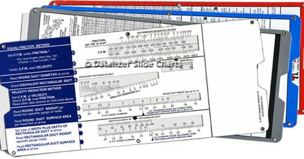 Air Duct Slide Rule Calculator Air Duct Slide Rule Industrial Hvac