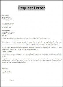 Request Letter Template Business Letter Format Letter Templates