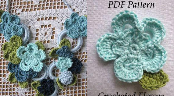 Crocheted Necklace PDF Pattern - Crocheted Necklace Tutorial - Last ...
