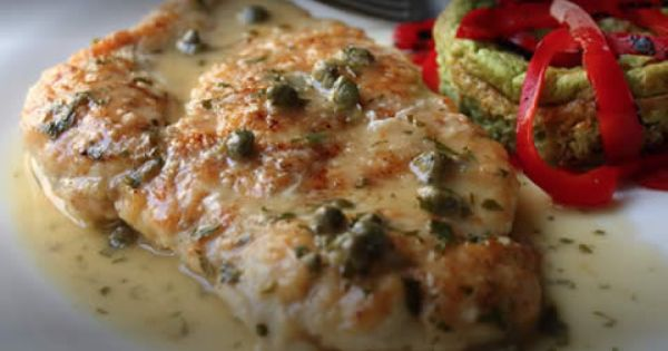 Quick chicken piccata skip the flour or use your fav low for Atkins cuisine baking mix substitute
