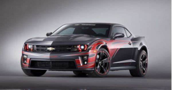 Tony Stewart Chevrolet Camaro Zl1 With Red Decals And Black