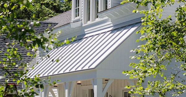 Exterior Example White 6 Quot Siding With Gray Metal Accent