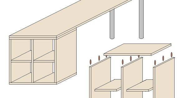 schreibtisch selber bauen mit anleitung heimwerken pinterest ikea hack house and room. Black Bedroom Furniture Sets. Home Design Ideas