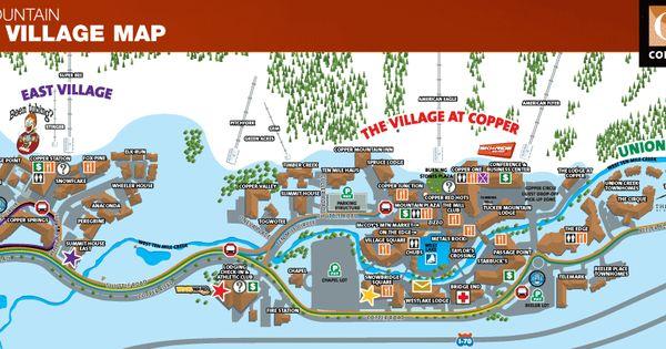Copper mountain village map copper mountain lodging for Copper village