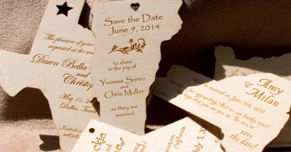 Save the date idea.. wood!