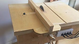 Pivoting Mitre Saw Base Part 2 Fence And Angle Locking Mechanism Youtube Diy Table Saw Homemade Tables Jigsaw Table