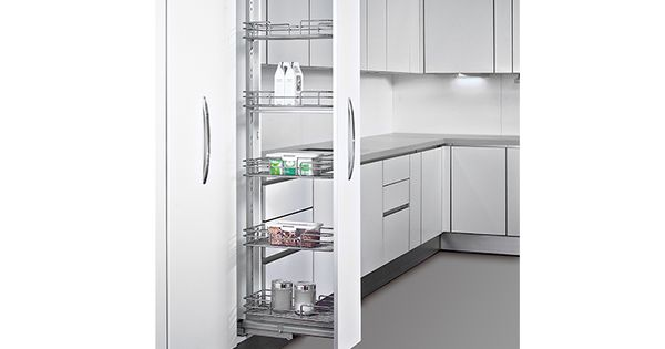 The Good Guys Pull Out Pantry Available In Polished Chrome