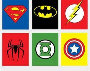 picture relating to Superhero Logo Printable titled Superhero Emblems Surprise Superhero - ClipArt Suitable