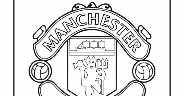 Manchester united logo coloring pages sketch coloring page for Manchester united coloring pages