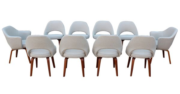 A set of ten dining chairs by eero saarinen for knoll dining pinterest stoelen stoelen - Knoll stoelen ...