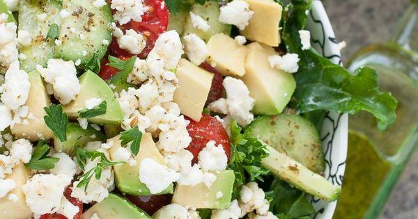 Chopped Kale Salad kale salad feta