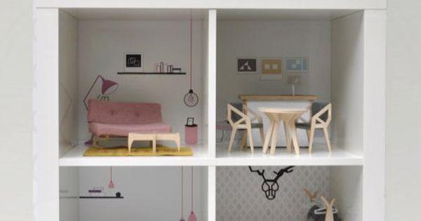 gardiner praliner dockhus av expedit miniatyr. Black Bedroom Furniture Sets. Home Design Ideas