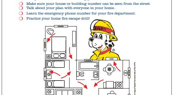 Free printable how to make a home fire escape plan for for Fire escape plan worksheet