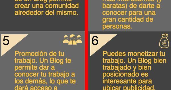Infografía con diez razones para crear y mantener un blog