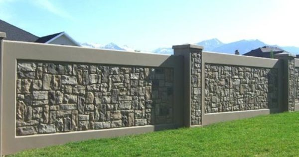 Stone Fence Ideas - Really Like This One | For The Yard/Garden