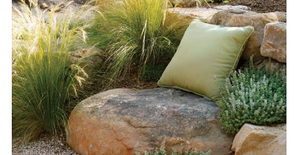 I am so doing this!!! I love it!! Ornamental Grasses | Landscaping