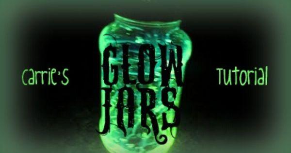 Glow Stick Ideas Halloween You Need Glow Sticks I Got Mine From The Dollar Tree And Empty Clear Glow Jars Glow Stick Jars Glow Stick Crafts
