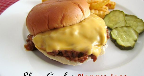 The Country Cook: Homemade Sloppy Joes (Slow Cooker)