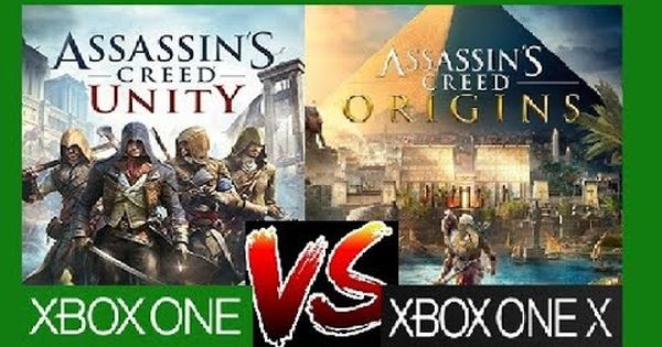 Assassins Creed Origins Vs Unity Xbox One X Vs Xbox One Graphics