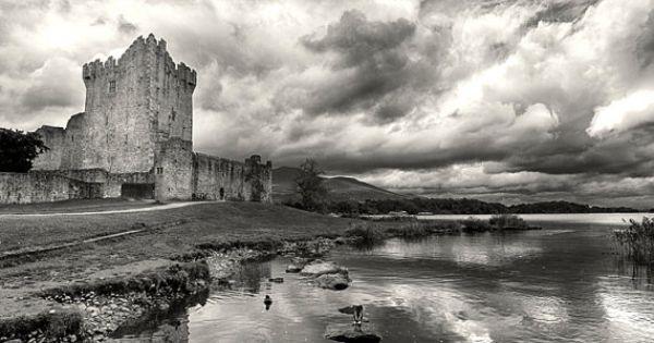 Ross castle ireland black white print ireland for Home decor northern ireland
