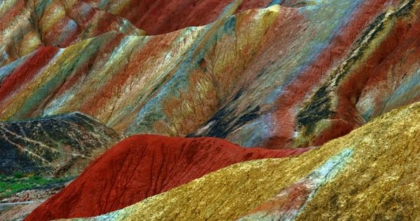 Colored Mountains, China. During the 4.54 billion years, (approximately), since earth was