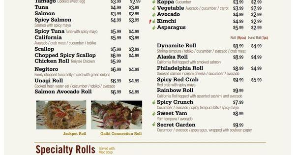 Arisu korean bbq sushi bar restaurant menus of toronto for Arisu japanese cuisine