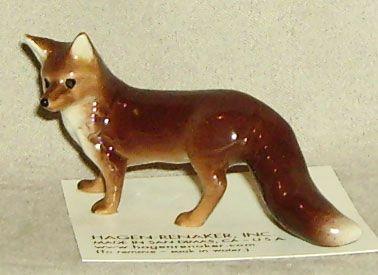 Hagen Renaker Miniature Fox Mama Character Design Animal Figurines Ceramic Animals