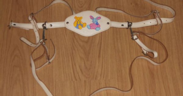 Vintage Mothercare Leather Safety Harness Reins White