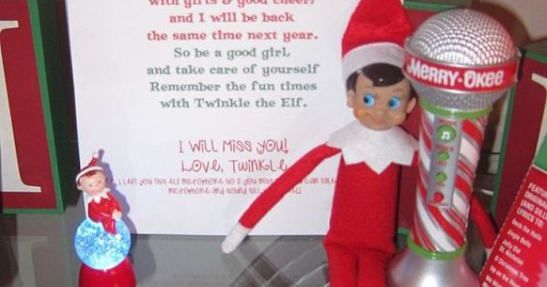 Goodbye letter from Elf....such a cute idea!! *Also, lots of lists of