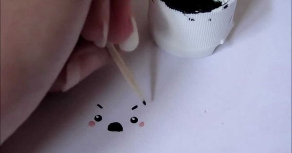 Painting Kawaii Faces On Your Polymer Clay Charms Tutorial: Mamegoma Faces, Chibi