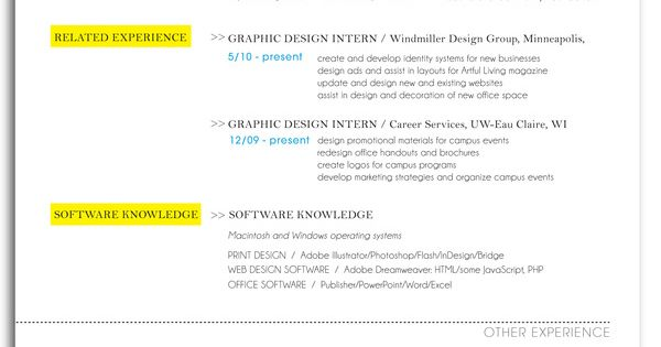 Resume By Stephanie Hager Via Behance Resume