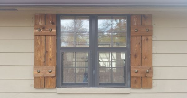 Stained Cedar Shutters, Exterior Shutters, Board And