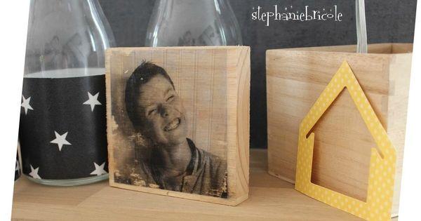 diy d co transf rer une photo sur du bois bricolage scrap and photo transfer. Black Bedroom Furniture Sets. Home Design Ideas