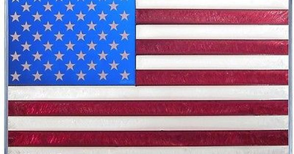American Flag Hand Painted Stained Glass Art Stained Glass Art Stained Glass Suncatchers Glass Art