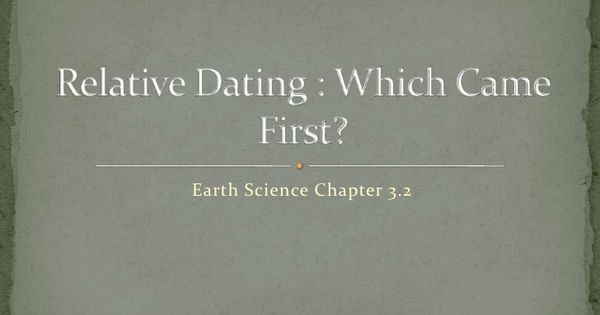 Relative dating tools