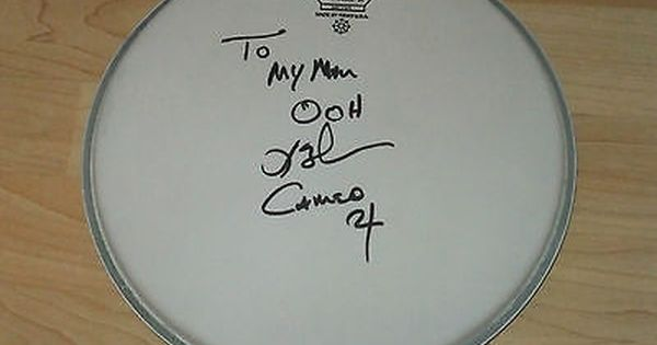 Larry Blackmon Cameo Signed Drumhead In Music Music Memorabilia Rock Ebay