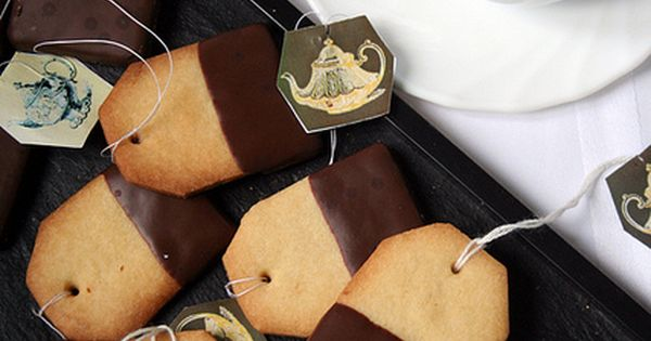 Tea Bag Cookies ...the blog is in french, but using the visual