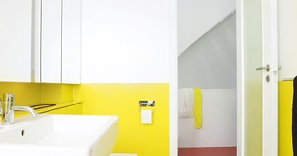 Danish apartment amager bright yellow decor pinterest for Bright yellow bathroom ideas