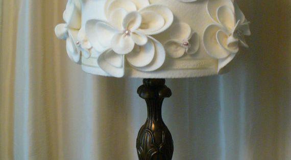 Hand made shabby chic lamp shade by alaveronica on etsy - Lamparas estilo shabby chic ...