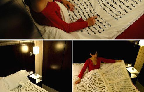 Book bed sheets!/ Sleeping Beauty text :)
