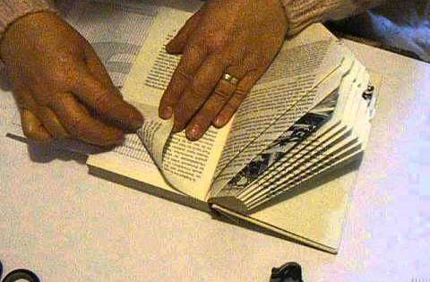 buch falten die zahl 9 book folding youtube b cher. Black Bedroom Furniture Sets. Home Design Ideas