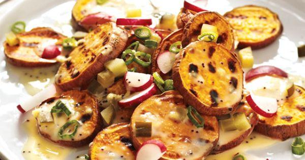 Grilled sweet potatoes, Sweet potato salads and Potato salad on ...