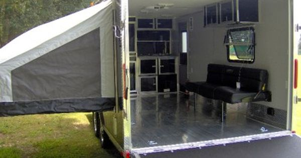 horton toy hauler camper outdoor news forum 2compact 8 5 x 20 enclosed aluminum toy hauler trailer loaded