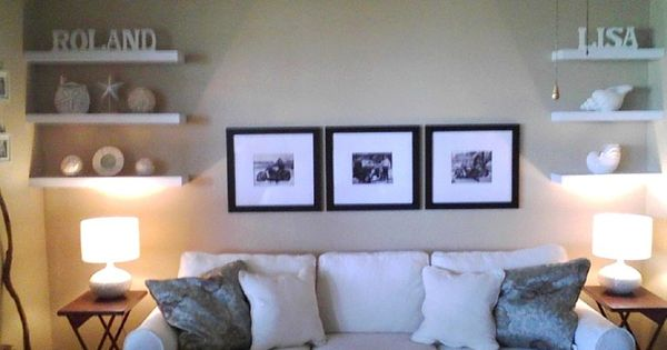 Living Room Floating Shelves Pictures: Floating Shelves + Wall Art For Wall Above Couch